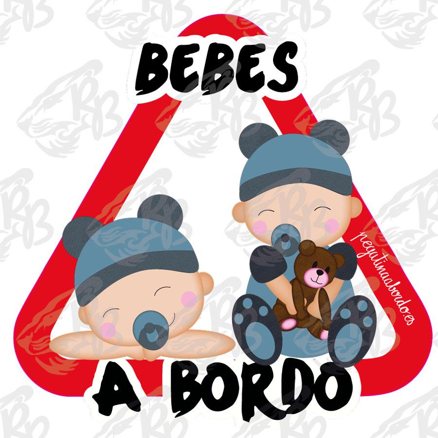 BEBES GORRO AZUL Y OSITO A BORDO