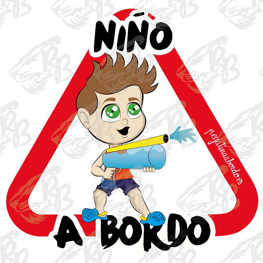 NIÑO JUGUETÓN A BORDO