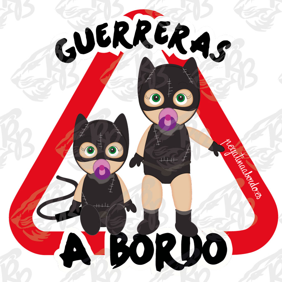 GUERRERAS CAT WOMAN A BORDO