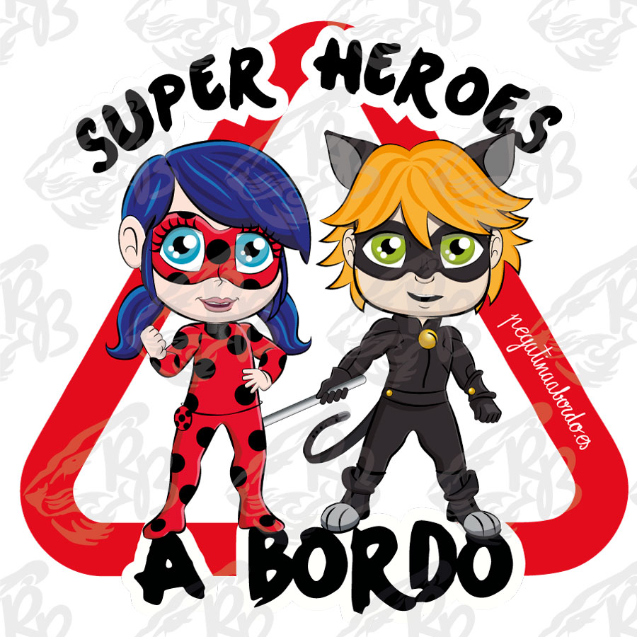 SUPERHEROES LADY Y CAT A BORDO