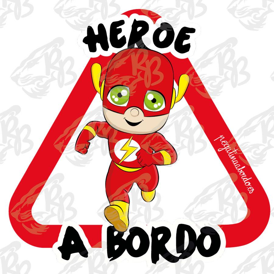 Heroe Flash, pegatina, vinilo
