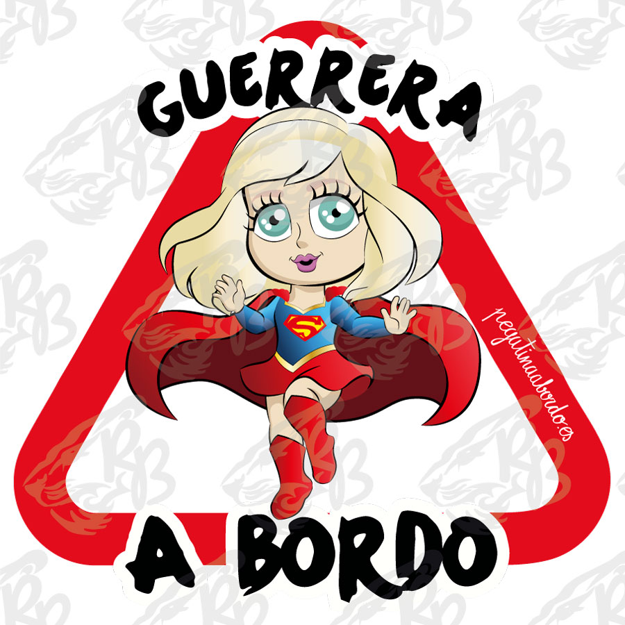 GUERRERA SUPER GIRL A BORDO