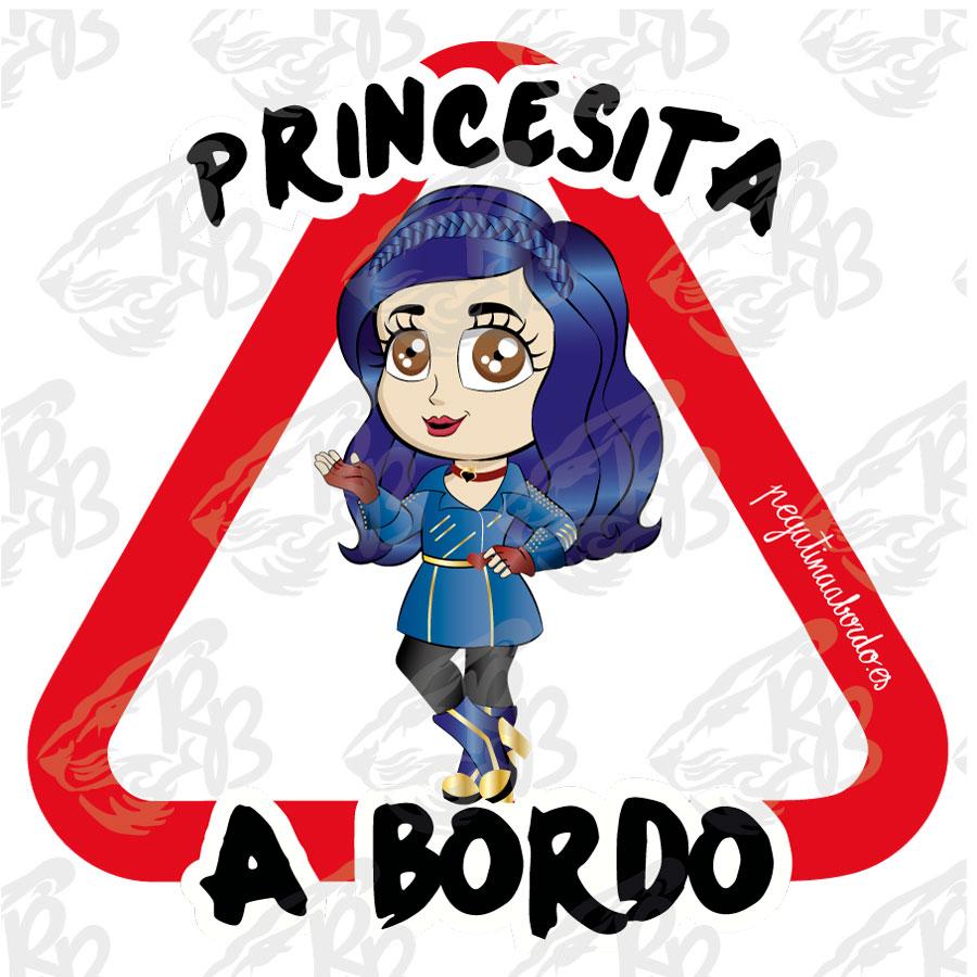 PRINCESITA PELO AZUL A BORDO