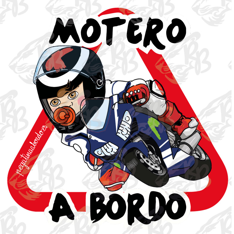 MOTERO RACING LORENZO NIÑO A BORDO