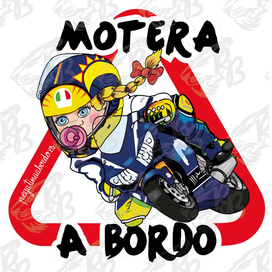 MOTERO RACING ROSSI NIÑA A BORDO