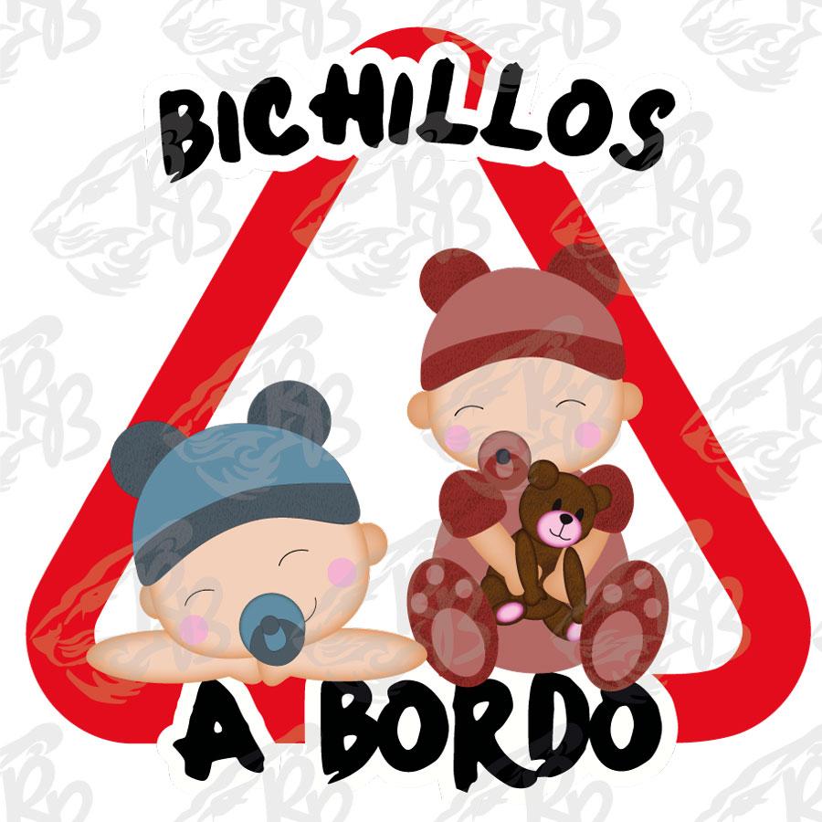 BICHILLOS NIÑO Y NIÑA A BORDO