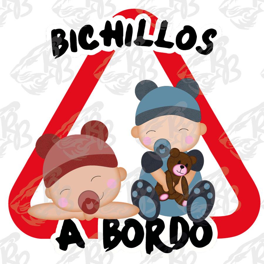 BICHILLOS NIÑA Y NIÑO A BORDO