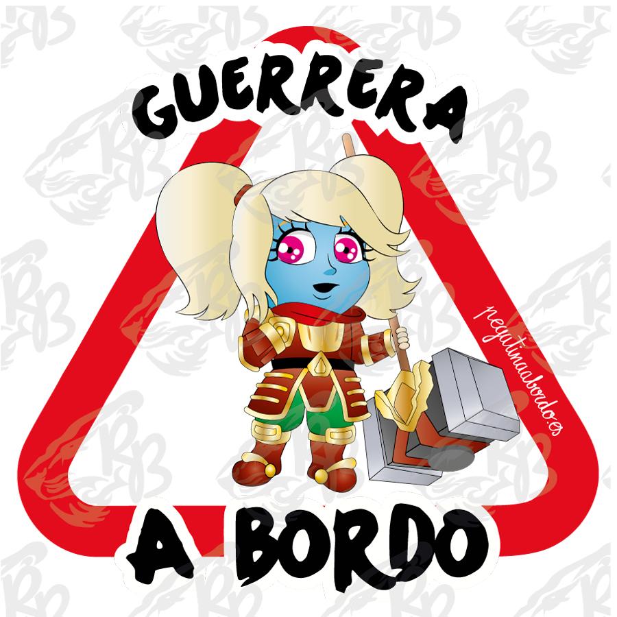 GUERRERA CON MARTILLO A BORDO