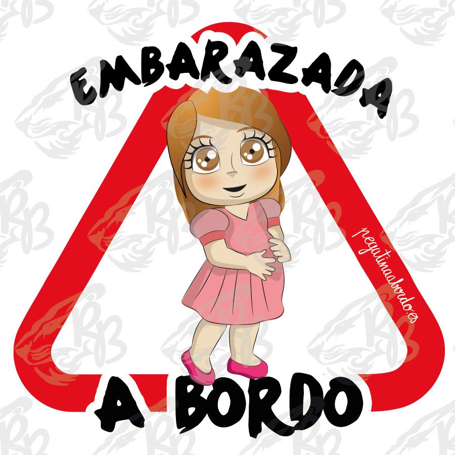 EMBARAZADA A BORDO